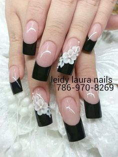 Beautiful Nail Designs for Long Nails. Compared with short nails, the long nail designs are perfect for special events. A perfect nail design can complete French Tip Nail Designs, Long Nail Designs, French Tip Nails, Beautiful Nail Designs, Nail Art Designs, French Tips, Nails Design, French Pedicure, Design Design