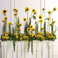 sunflower arrangements for weddings - Google Search