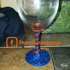 Swirl glitter wine glass