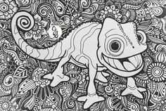 Each piece is one of a kind, drawn by me, with nothing but sharpie on thick Free Adult Coloring Pages, Cartoon Coloring Pages, Disney Coloring Pages, Mandala Coloring Pages, Animal Coloring Pages, Coloring Pages To Print, Colouring Pages, Coloring Pages For Kids, Coloring Books