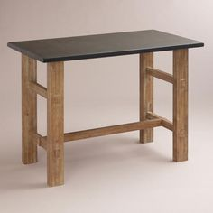 No need to sit at the desk, this can be a great standing desk.  Brooklyn Work Table