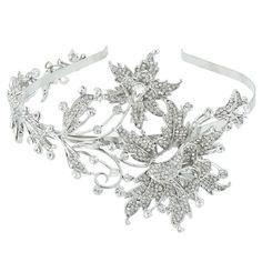 Белла мода изящные большой цветок свадебный повязка на голову ясно австрийский хрустальная корона тиара свадебные прически ювелирных изделиях валентина подарок купить на AliExpress