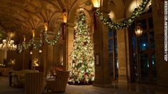 Twinkling lights, glitter and gourmet menus galore -- without a single dish to wash or tree to trim. Spending Christmas at a hotel does hold a certain allure.
