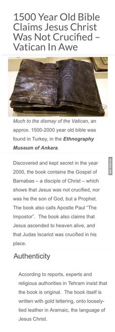 New Bible discovered. Your religion is a lie.