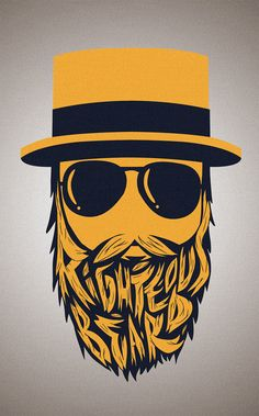"Logo for ""Righteous Beard"". Andres Lozano Illustration."