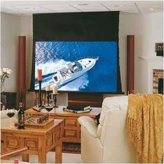 """M1300: Ultimate Access/Series V Electric Screen - AV Format Size: 50"""" x 50"""" by Draper. $2641.00. 118179 Size: 50"""" x 50"""" A tab-tensioned, screen with independently motorized ceiling closure. With this screen you can install the case first, and then the screen later. At the touch of a switch or wireless transmitter, the door of the Ultimate Access opens into the case."""