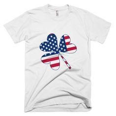 American Irish Clover Mens T-Shirt