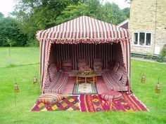 Arabian and moroccan tent. I would love something like this in my garden. <3