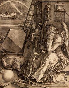 Melencolia I (1514) — Albrecht Dürer Albrecht Durer, Melencolia I, Städel Museum, Renaissance Kunst, High Renaissance, Illustration, Arte Popular, Expo, Old Master