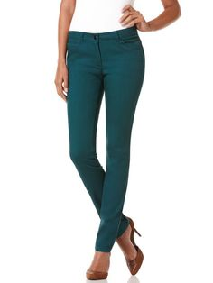 Modern Slimming Five Pocket Pant, Bottle Green