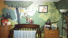 I tried my hand at a Calvin and Hobbes themed nursery. - Album on Imgur