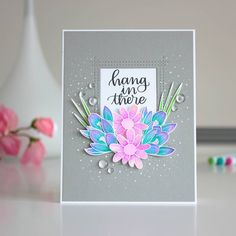"""314 Likes, 26 Comments - Amanda (@amandakorotkova) on Instagram: """"New card and video tutorial up on my blog! I colored those beautiful flowers by @simonsaysstamp…"""""""