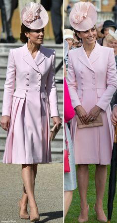 Moment Royal Party Turns Pink Party - The Duchess in Pink McQueen for Buckingham Palace Garden Party Looks Kate Middleton, Estilo Kate Middleton, Buckingham Palace Garden Party, Princess Katherine, Royal Party, Elisabeth Ii, Royal Clothing, Prince William And Kate, William Kate