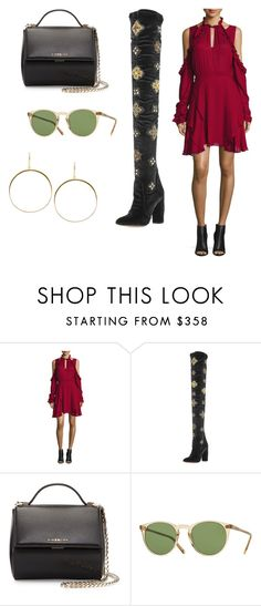"""""""Sin título #9639"""" by ceciliaamuedo ❤ liked on Polyvore featuring IRO, Aquazzura, Givenchy, Oliver Peoples and Lana"""