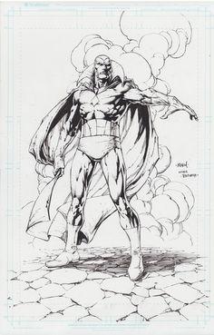 Black And White Comics, Black White Art, Marvel Art, Marvel Comics, Comic Books Art, Book Art, Best Cartoon Characters, Avengers Drawings, David Finch