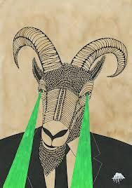 Google Image Result for http://www.creaturemag.com/blog/wp-content/uploads/2012/11/Mulga-the-Artist-Gary-the-Goatee-Man-Goat-with-laser-beams-coming-out-of-eyes-wearing-suit-horns-posca-joel-moore-art-illustration-drawing-painting-hipster-indie-black-tie-beard-animal.jpg