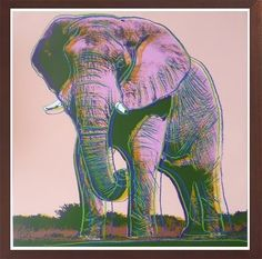 African Elephant  | Andy Warhol, African Elephant  (1983)