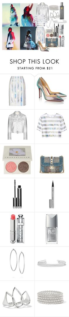 """Mirror"" by brownish ❤ liked on Polyvore featuring Jonathan Saunders, Christian Louboutin, Maison Kitsuné, Chantecaille, Valentino, Givenchy, Eyeko, Christian Dior, Jennifer Fisher and Arme De L'Amour"