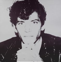 Robert Mapplethorpe,1983, a unique work by Andy Warhol (1928-1987). The two New York City artists made portraits of one another on numerous occasions. This portrait will be offered at BRAFA 2016 (23 - 31 January) by Jablonka Maruani Mercier Gallery