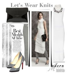 """Lets Wear Knits"" by emcf3548 ❤ liked on Polyvore featuring Helmut Lang, Current/Elliott, Givenchy, Christian Louboutin and White House Black Market"