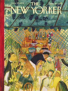 Ludwig Bemelmans : Cover art for The New Yorker 1532 - 26 June 1954