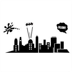 Batman Gotham City Skyline