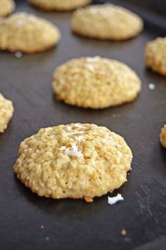Coconut Lime Oatmeal Cookies--these unique cookies are zesty and sweet and remind me of a tropical vacation!