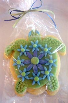 Sea Turtle Cookie Favor