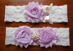 Orchid Garter by BloomsandBlessings