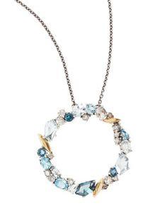 CS-DB Pendants 2.4ct Amethyst Garnet Peridot Citrine Blue Topaz Silver Necklaces