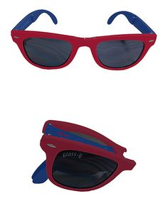 Take a look at this Red & Royal Blue Foldable Sunglasses - Set of Two by Glass-U on #zulily today!
