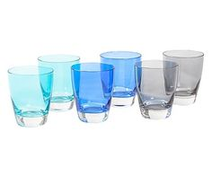 Set de 6 vasos de vidrio Happy I - 24 cl