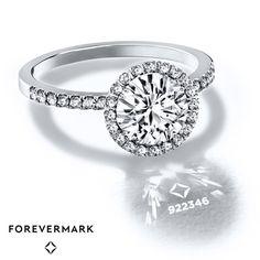 Diamond Engagement Ring 3/4 ct tw Round-cut 18K White Gold