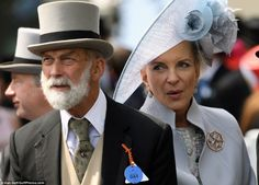 Prince Michael of Kent with big knot, notched partially faced lapel