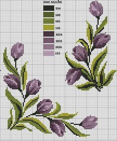 This Pin was discovered by ulk Cross Stitch Boarders, Cross Stitch Rose, Cross Stitch Flowers, Cross Stitch Designs, Cross Stitching, Cross Stitch Embroidery, Embroidery Patterns, Cross Stitch Patterns, Plant