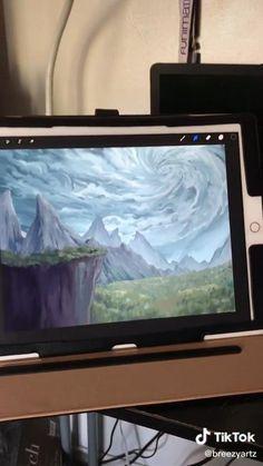 Digital Painting Tutorials, Digital Art Tutorial, Art Tutorials, Illustration Design Graphique, Digital Illustration, Drawing Techniques, Drawing Process, Digital Art Beginner, Instruções Origami