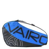 Paletero con compartimentos, para la pala y bolsillos adicionales. Pertenece a la colección de paleteros de pádel Vairo de 2012