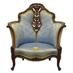 Vtg French Hollywood Regency Butterfly Carved Whimsical Lounge Arm Wing Chair #HollywoodRegency feel like a queen.