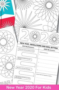 This is such a fun New Years art activity for kids - ideal coloring pages, resolutions and goal sett All About Me Activities, New Years Activities, Art Activities For Kids, Art For Kids, Fireworks Art, New Year Fireworks, New Year Art, New Year 2020, Warm And Cool Colors