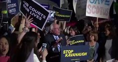 """Let us be clear,"" Sanders warns, ""Kavanaugh will be a rubber-stamp for an extreme, right-wing agenda pushed by corporations and billionaires. Citizens United, Political Views, Right Wing, Supreme Court, Rally, Leadership, Acting, How To Become, Politics"