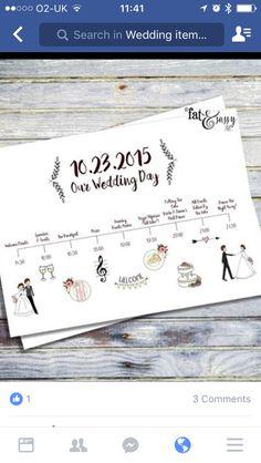 Wedding Checklist Wedding Timeline Custom Wedding Program by fatandsassyink on Etsy - Order Of Wedding Ceremony, Wedding Reception Food, Our Wedding Day, Wedding Programs, Wedding Signs, Wedding Cards, Trendy Wedding, Wedding Venues, Wedding Decor