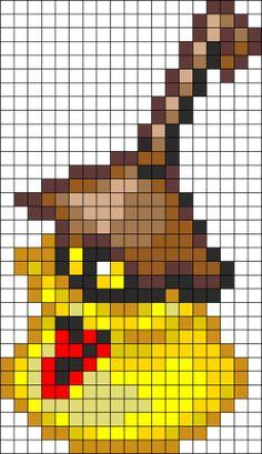 Yellow Opera Kingdom Hearts Perler Bead Pattern | Bead Sprites | Characters Fuse Bead Patterns