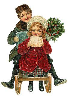 papers.quenalbertini: Victorian Christmas Children Image - tubes noel