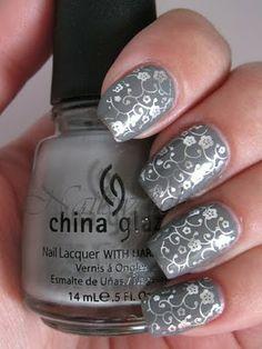 China Glaze RECYCLE stamped with China Glaze Millennium and Konad imageplate M73