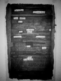 My own blackout poem