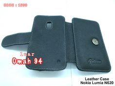 Jual Genuine Leather Case Wallet Book Nokia Lumia N 620 Hitam (Black) | Toko Online Rame | KODE BARANG : 1590