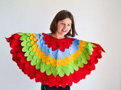 Kinder Vogel Flügel Cape Kids Vogel Set von BHBKidstyle auf Etsy