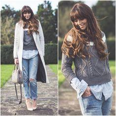 Sweater, Long Coat, Levi's® Jeans