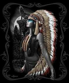 DGA Native American Girl and Wolf Queen Size Super Soft Plush Blanket - Essense Native Girls, Native American Girls, Native American Pictures, Native American Beauty, American Indian Art, American History, Native American Drawing, Native American Tattoos, Native American Paintings