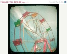 love the colors in this ferris wheel photo